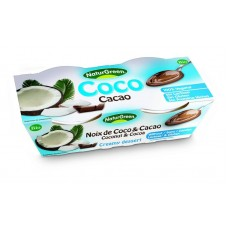Kookosedessert kakaoga 2*125g, NaturGreen