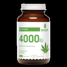 D3 vitamiini kapslid kanepipulbriga 4000iu 90tk/50g Ecosh