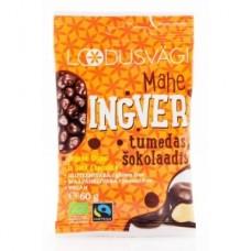 Mahe ingver tumedas šokolaadis 60g, Loodusvägi