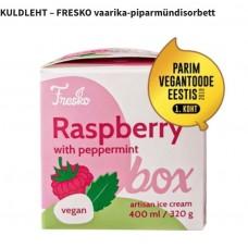 Vaarika-piparmündisorbett 320g, Fresko